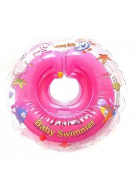 Babyswimmer Neck Colac, rose avec hochet6-36 mois