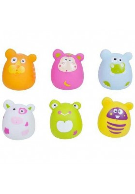 Set 6 Baño Juguetes Divertidos Animales Escabbo