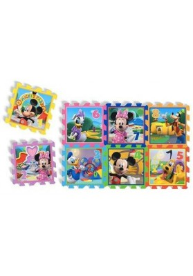 "Alfombra Puzzle Minnie & Mickey Mouse - ""Playground"", 8 pzs,"