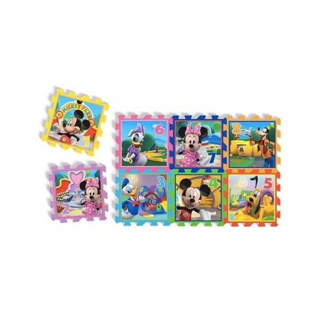 """Covoras Puzzle Minnie & Mickey Mouse - """"Playground"""", 8 buc,"""
