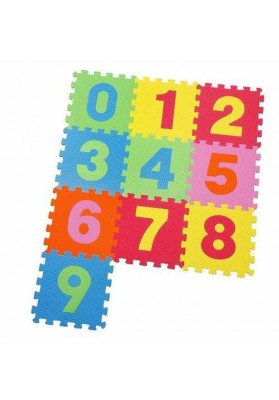 Carpet Puzzle Numbers, 10 pcs. x 30 cm, Knorrtoys