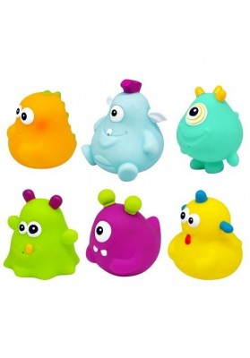 Set 6 Happy Monster Escaboo Bath Giocattoli