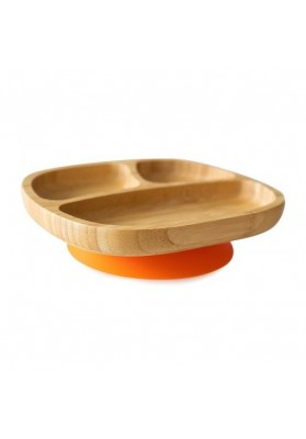 Bamboo plate Toddler, orange, eco rascals