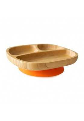 Plaque de bambou Toddler, orange, coquins écologiques