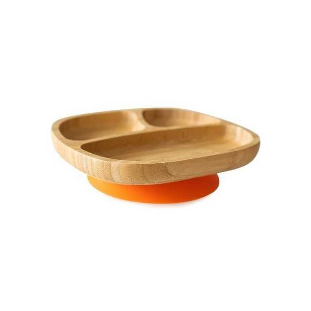 Farfuria din bambus Toddler, portocaliu, eco rascals