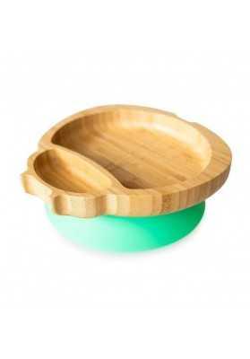 Bamboo Buburuza plate, green, eco rascals