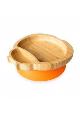 Bamboo Buburuza plate, orange, eco rascals