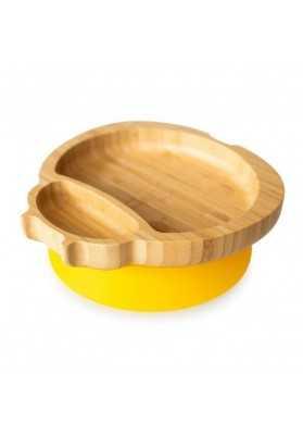 Bamboo Buburuza plate, yellow, eco rascals
