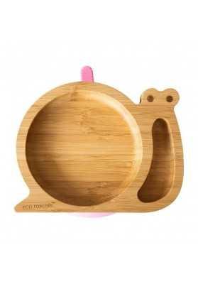 Placa de bambú Caracol, rosa, bribones ecológicos